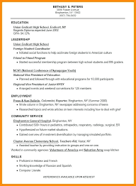 education high school resume good high school resume