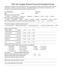 Evaluation Form Template Sample Workshop Forms Free Documents In Doc ...