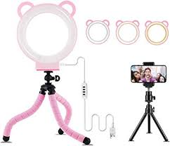 <b>LED Ring Light</b> 6 with Tripod Stand and Cell Phone Holder for Live ...
