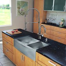 stainless soapstone farmhouse sink mcnary farm for kitchen black and tan rugs cream tiles inch base
