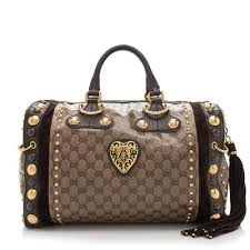 gucci purse. gucci gg crystal babouska boston bag purse r