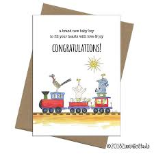 Congratulations On Your New Baby Card Train Of Southwest Critters New Baby Card