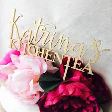 Kitchen Tea Cake Personalized Kitchen Tea Cake Topper Bridal Shower Cake Kitchen