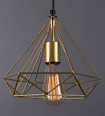 gold metal single hanging lights by
