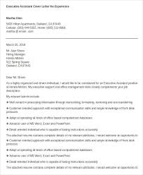 Employment Cover Letter Templates Amazing Executive Assistant Cover Letter 48 Free Word Documents Download