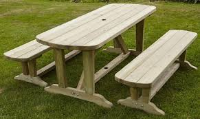 maribelle 8 seater stained pine round wooden bench picnic table for garden pub patio