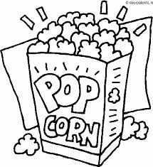 Eten Kleurplaat Popcorn 1967 Kleurplaat Kleurennet