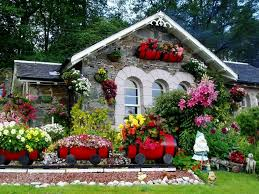 beautiful flower garden decorations