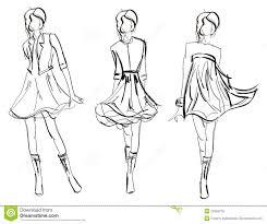 эскиз девушка способа иллюстрация вектора иллюстрации