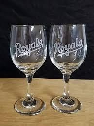 nice wine glasses.  Glasses Image Is Loading KANSASCITYROYALSLOGOS2NICEETCHEDDRINKING With Nice Wine Glasses S