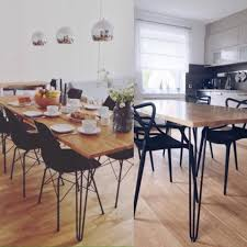 Hairpin dining table Reclaimed Wood Hairpin Leg Dining Tables The Hairpin Leg Co Leg Selector Which Hairpin Legs To Use For Your Project