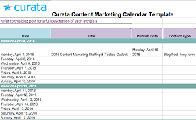 Create A Calendar Template Editorial Calendar Templates For Content Marketing The