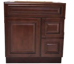 30 inch bathroom cabinet vanity cherry right drawers