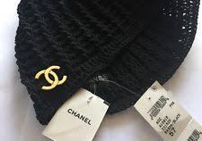 chanel hat. chanel hat vintage knit black - nwt chanel hat