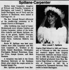 Carpenter-Spillane wedding Burlington Free Press, Burlington VT 3 Dec 1989  - Newspapers.com