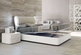 contemporary bedroom furniture white. Modern Bedroom With White Reclinig Bed Furnished Gray Cover Also Pillows Of Furniture Contemporary I