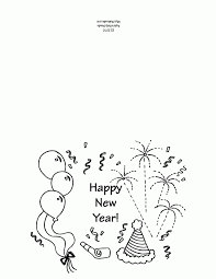Small Picture Printable New Years greeting card template My Fun Job
