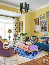 yellow decor living room yellow walls