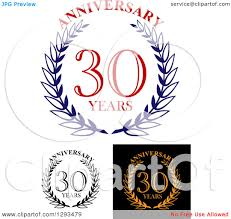 Of Wreaths Clipart Of Wreaths And 30 Years Anniversary Text 2 Royalty Free
