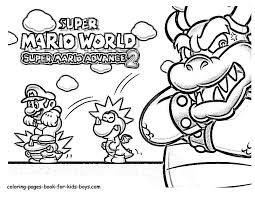 Small Picture Super Mario advance coloring pages Mario Bros games Mario Bros