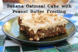 Moist Banana Oatmeal Sheet Cake with Peanut Butter Frosting from ZagLeft