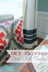 Diy Drop Cloth Curtains Diy Drop Cloth Curtains The Turquoise Home