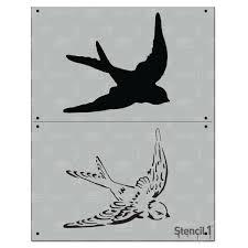 stencil1 swallow 2 layer stencil