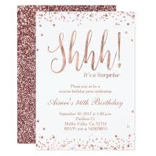 Rose Gold Birthday Celebration Invitation Zazzle Com