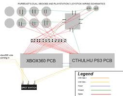 my 2 pcb in 1 joystick xbox360 ps3 wiring schematics diagram dw4akg jpg