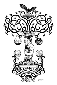 4 Yggdrasil Drawing Mjolnir For Free Download On Ayoqq Cliparts