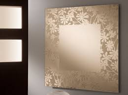 ... Perfect Mirrors Interiors Designs Idea : Stunning Wall Mirrors  Interiors Designs Flower Ornamental Frame ...