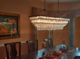 the weston inch rectangular glass drop crystal chandelier lighting large rectangle hanging capiz for dining room