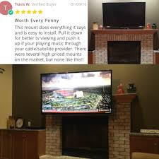 D The Best Pull Down TV Wall Mount For Your Fireplace Or Other High  Locations