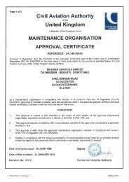 Mbd is directly benefi ting from the robustness of the commercial aerospace industry. Gloucester Part 145 Certificate Messier Bugatti Dowty