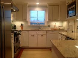 glass tiles in kitchen