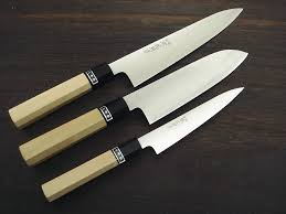 R4 Damascus Santokubocho Kitchen Knife 165mm  65in « Unique Japanese Kitchen Knives