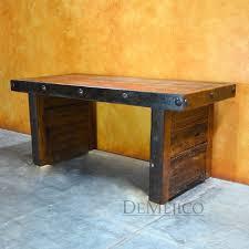 escritorio grappa old wood desk rustic modern desk