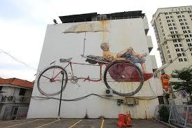 the awaiting trishaw pedaler mural penang road george town penang on famous wall art in penang with the awaiting trishaw pedaler mural penang road george town penang