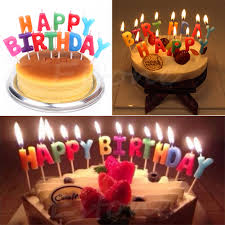 Happy Birthday Letter Candles Toothpick Cake Cute Candle Kids Party