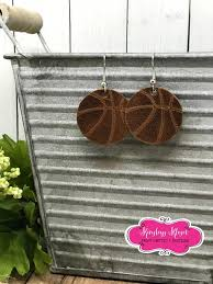 gorgeous genuine leather basketball earrings handmade etched leather teardrops basketball mom