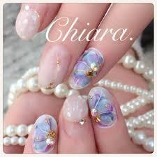 Yokoshikataキアラさんのネイルデザイン フラワーネイル花柄ネイル