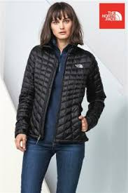 Womens Duvet Jackets | Ladies Padded & Quilted Jackets | Next & The North Face® Black Thermoball Jacket Adamdwight.com