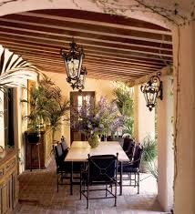 outdoor lighting miami. Miami Rustic Outdoor Lighting Patio Farmhouse With Potted Plants Bronze Pendant Lights Loggia