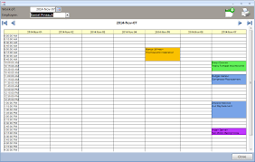 Outlook Agenda Template Ms Access Appointment Calendar Daily Planner Technician