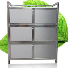 simple thick stainless steel cupboard kitchen cabinet living room locker tea cabinet bedroom storage cabinet balcony
