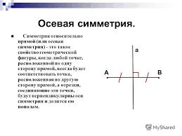 Презентация на тему Симметрия в пространстве Центральная осевая  5 Осевая симметрия
