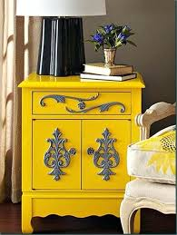 colorful painted furniture. Painted Furniture Ideas Expressive Yellow Dresser Diy . Colorful D