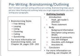 Prewriting Outline Template Templates Miss Petrochko 39 S Website