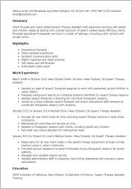 Speech Pathology Resume Custom Occupational Therapy Resume Best Of Speech Pathology Resume Examples