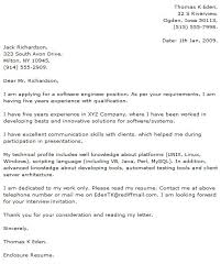 More Information Technology Cover Letter Samples Resume Templates